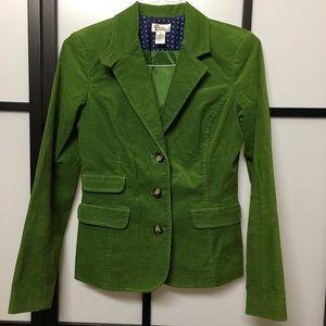 Lilly Pulitzer Green Corduroy Blazer Size 4